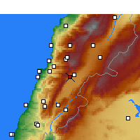 Nearby Forecast Locations - Houche-Al-O. - Χάρτης