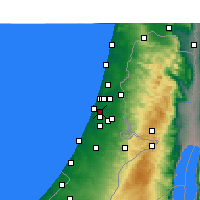 Nearby Forecast Locations - Beit Dagan - Χάρτης