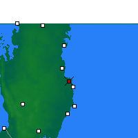 Nearby Forecast Locations - Ντόχα - Χάρτης