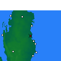 Nearby Forecast Locations - Qatar University - Χάρτης