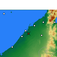 Nearby Forecast Locations - Sharjah - Χάρτης
