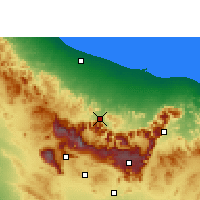 Nearby Forecast Locations - Rustaq - Χάρτης