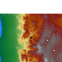 Nearby Forecast Locations - Hajjah - Χάρτης