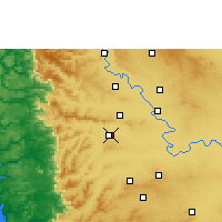 Nearby Forecast Locations - Kolhapur - Χάρτης