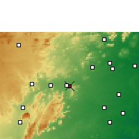Nearby Forecast Locations - Vellore - Χάρτης