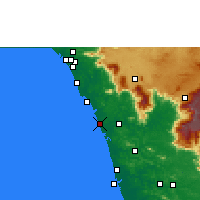 Nearby Forecast Locations - Kozhikode - Χάρτης