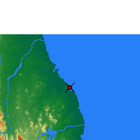 Nearby Forecast Locations - Batticaloa - Χάρτης