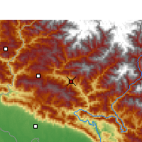 Nearby Forecast Locations - Dipayal Silgadhi - Χάρτης