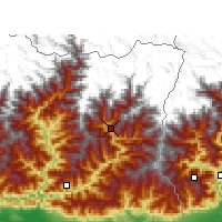 Nearby Forecast Locations - Taplejung - Χάρτης