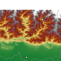 Nearby Forecast Locations - Dhankuta - Χάρτης