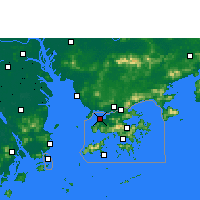 Nearby Forecast Locations - Lau Fau Shan - Χάρτης