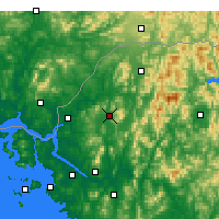 Nearby Forecast Locations - Dongducheon - Χάρτης