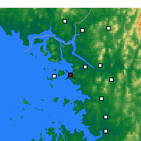 Nearby Forecast Locations - Ιντσόν - Χάρτης