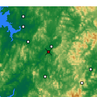Nearby Forecast Locations - Cheongju - Χάρτης