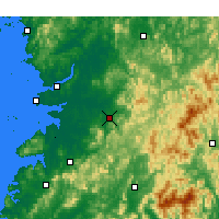 Nearby Forecast Locations - Jeonju - Χάρτης