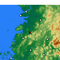 Nearby Forecast Locations - Jeongeup - Χάρτης
