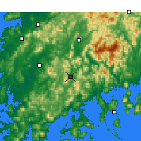 Nearby Forecast Locations - Suncheon - Χάρτης