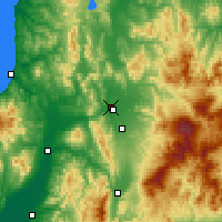 Nearby Forecast Locations - Asahikawa - Χάρτης