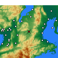 Nearby Forecast Locations - Ueno - Χάρτης