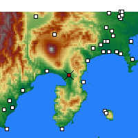 Nearby Forecast Locations - Mishima - Χάρτης