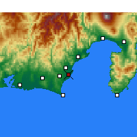 Nearby Forecast Locations - Yaizu - Χάρτης