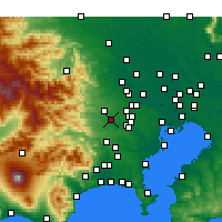 Nearby Forecast Locations - Tachikawa - Χάρτης