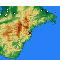 Nearby Forecast Locations - Owase - Χάρτης