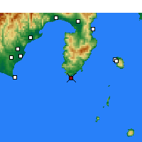 Nearby Forecast Locations - Irozaki - Χάρτης