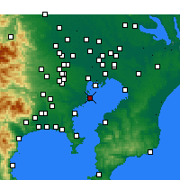 Nearby Forecast Locations - Ōta - Χάρτης