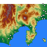 Nearby Forecast Locations - Φούτζι - Χάρτης