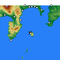 Nearby Forecast Locations - Oshima Airport - Χάρτης