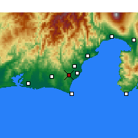 Nearby Forecast Locations - Shimada - Χάρτης