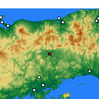 Nearby Forecast Locations - Tsuyama - Χάρτης