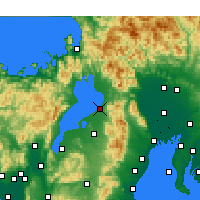 Nearby Forecast Locations - Hikone - Χάρτης