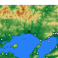 Nearby Forecast Locations - Himeji - Χάρτης