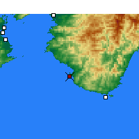 Nearby Forecast Locations - Shirahama - Χάρτης