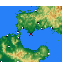 Nearby Forecast Locations - Ube - Χάρτης