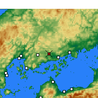 Nearby Forecast Locations - Hiroshima Airport - Χάρτης