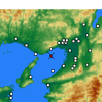 Nearby Forecast Locations - Κόμπε Αεροδρόμιο - Χάρτης