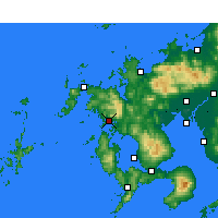 Nearby Forecast Locations - Sasebo - Χάρτης