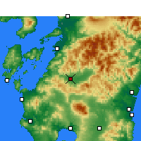 Nearby Forecast Locations - Hitoyoshi - Χάρτης