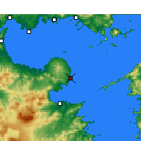 Nearby Forecast Locations - Oita Airport - Χάρτης