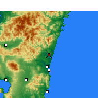 Nearby Forecast Locations - Nyutabaru - Χάρτης