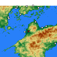 Nearby Forecast Locations - Matsuyama - Χάρτης