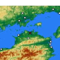 Nearby Forecast Locations - Takamatsu - Χάρτης