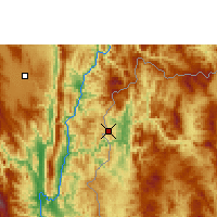 Nearby Forecast Locations - Mae Hong Son - Χάρτης