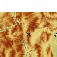 Nearby Forecast Locations - Doi Ang Khang - Χάρτης