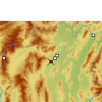 Nearby Forecast Locations - Chiang Rai - Χάρτης