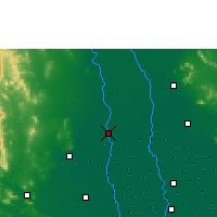 Nearby Forecast Locations - Suphan Buri - Χάρτης