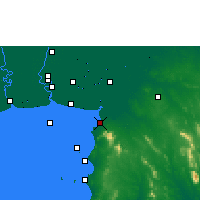 Nearby Forecast Locations - Chonburi - Χάρτης